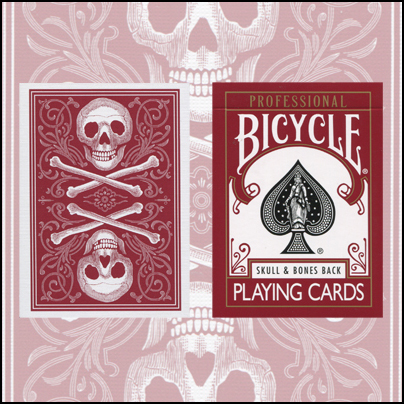 Bicycle Skull and Bones (rouge)