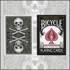 Bicycle Skull and Bones Deck (noir)