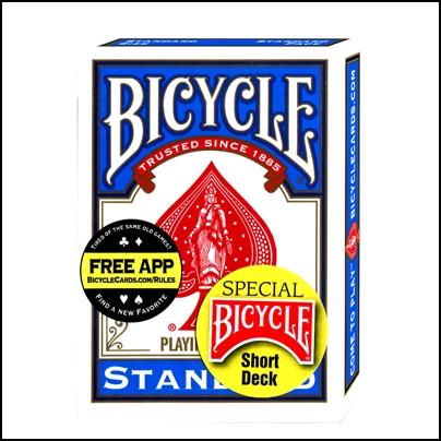 Bicycle cartes courtes (bleu)