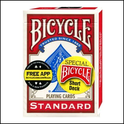 Bicycle cartes courtes (rouge)