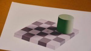 échiquier Adelson illusion d'optique