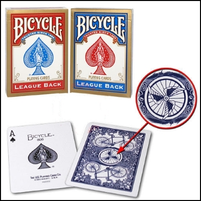 Jeu Bicycle League Back (bleu)
