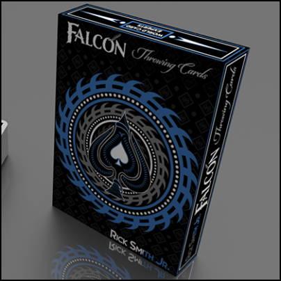 Silver Falcon Throwing Cards