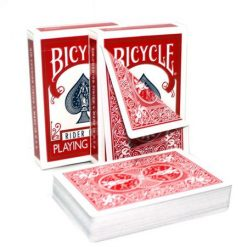 bicycle double dos rouge