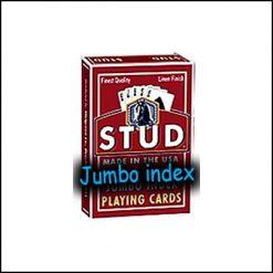 Jeu Stud index jumbo rouge