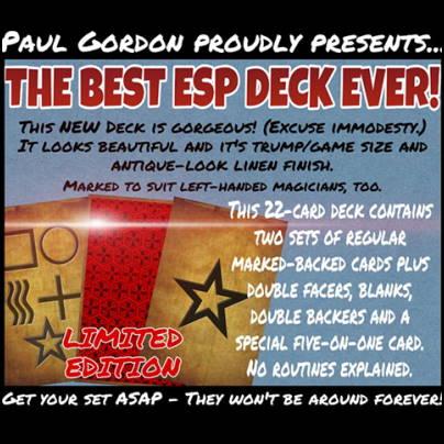 Jeu Antique ESP - Paul Gordon