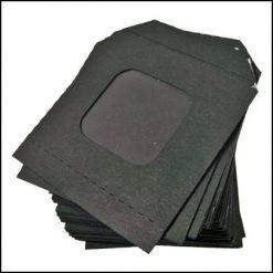 50 enveloppes noires avec fenêtre nest of wallets
