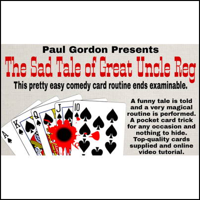 The sad tale of great Uncle Reg - Paul Gordon