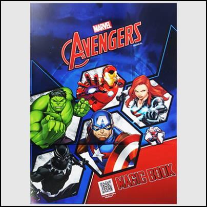 magic coloring book avengers