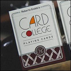 Jeu card college rouge- Roberto Giobbi