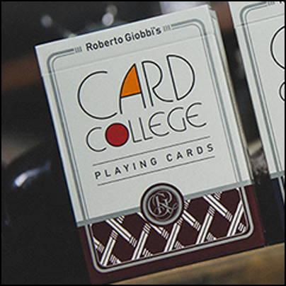 Jeu card college rouge- Roberto Giobbi