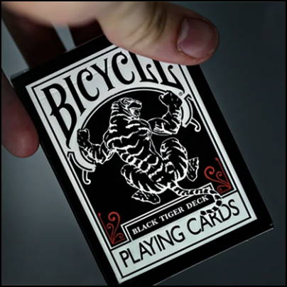 Jeu Bicycle Black tiger red