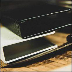 litchi-grain-leather-clip-etui-protection-cartes-tcc noir